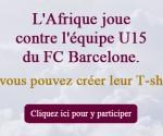 qatarairways.com/dz:L'Afrique joue contre l'équipe U15 du FC Barcelone. Et vous pouvez créer leur T-shirt! 2