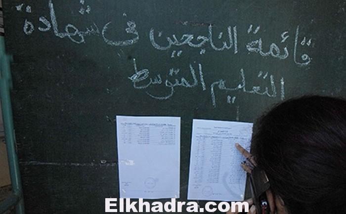 resultats bem نتائج شهادة التعليم المتوسط دورة 2021 6