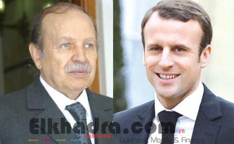 Bouteflika s'entretient avec son homologue français Macron 4