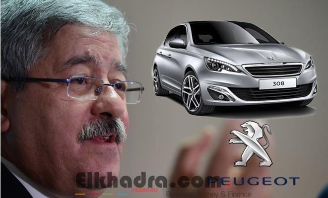 Usine Peugeot en Algérie: Ouyahia annonce la signature dimanche de l'accord 2