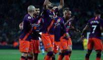 Manchester City s'impose face à Tottenham avec un but de Riyad Mahrez 25