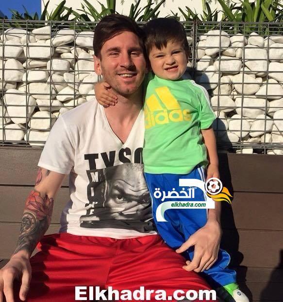 ميسي و ابنه علي الفيس بوك ... اللعب مع حب حياتي 34