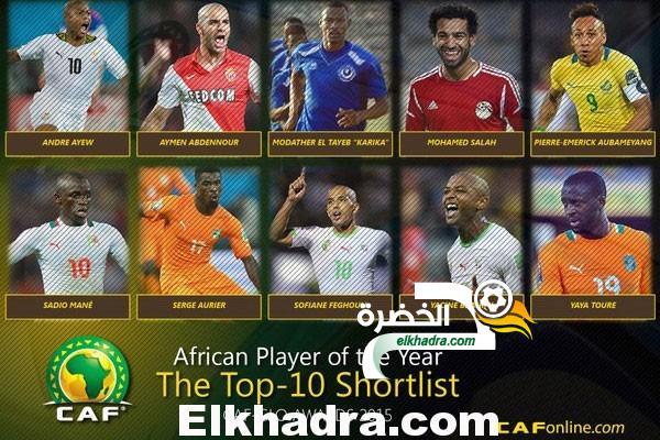 براهيمي و فغولي ضمن قائمة 10 لجائزة أحسن لاعب في افريقيا 2015 24