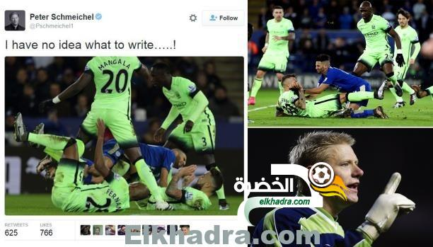 """بيتر شمايكل حارس مانشستر يونايتد التاريخي..ينتقد """"العنف"""" ضد الجزائري محرز 24"""