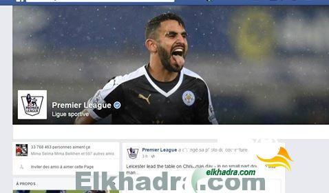 صورة .. رياض محرز في الصفحة الرئيسية للدوري الانجليزي الممتاز 28