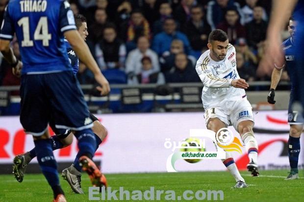 رشيد غزال أفضل لاعب مع نادي أولمبيك ليون عن شهر جانفي 26