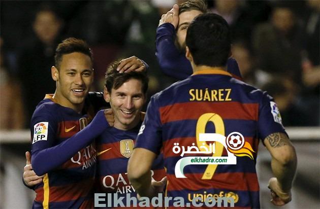 هاتريك ميسي يقود برشلونة لسحق فايكانو ويحطم رقم ريال مدريد القياسي 29