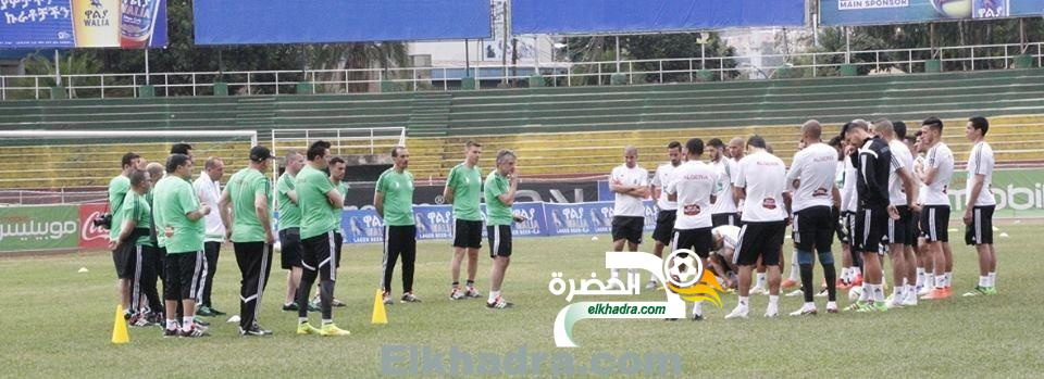 بالصور .. الحصة التدربية للمنتخب الجزائري على أرضية الملعب الرئيسي ييدنيكاشو تيسيما 33