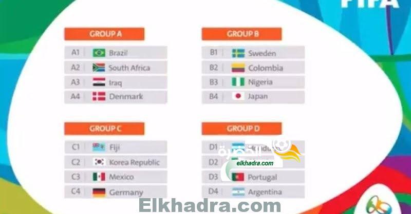 برنامج و توقيت مباريات المنتخب الجزائري في دورة الألعاب الأولمبية 2016 24