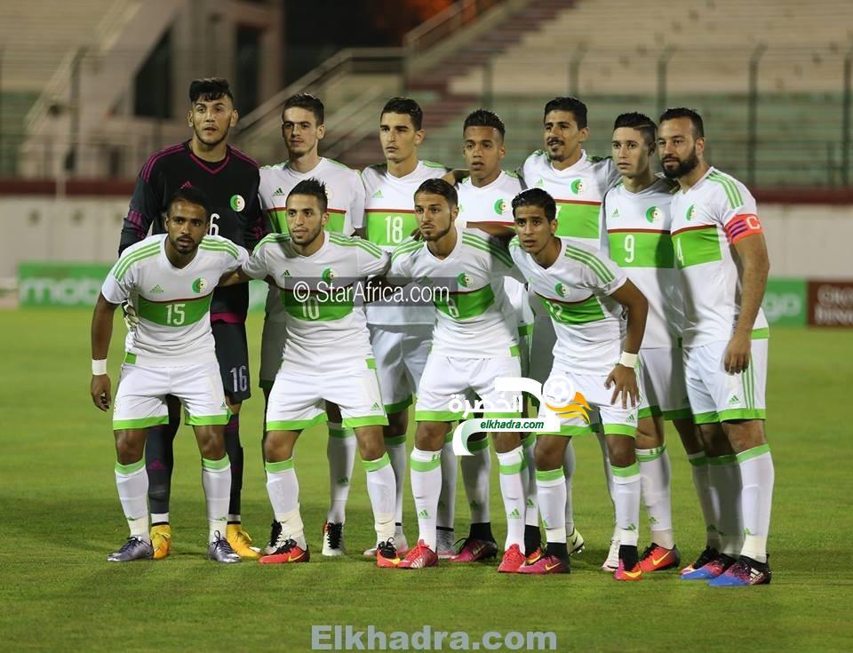 الجزائر تفوز على العراق بثنائية سجلها بونجاح ومزيان 1