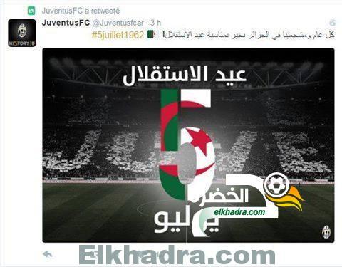 ناديي جوفنتوس و روما يهنئان الشعب الجزائري بعيد الاستقلال 2