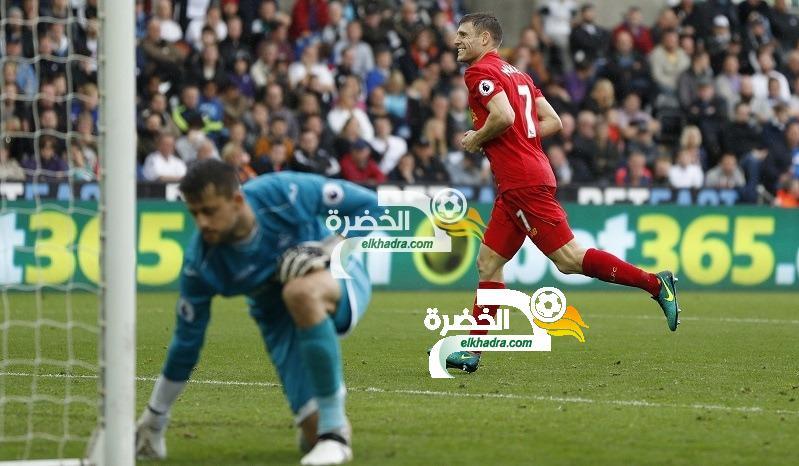 ليفربول إلى وصافة الدوري الإنجليزي بفوز مثير على سوانزي 23