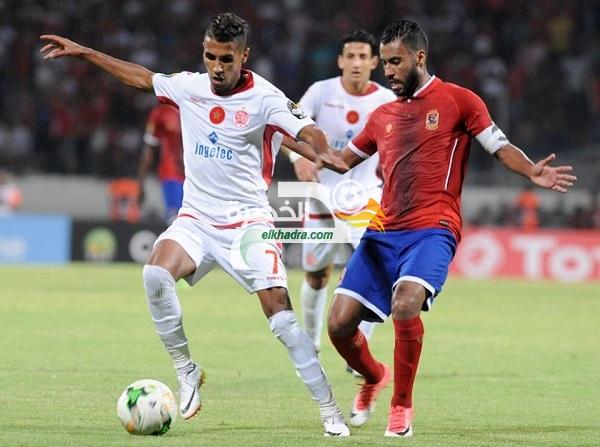 الوداد البيضاوي يفوز على الأهلي المصري بهدفين دون رد 31