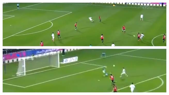 فيديو  الجزائري حمرون يتوج تمريرة تشافي الرائعة بهدف عالمي 63