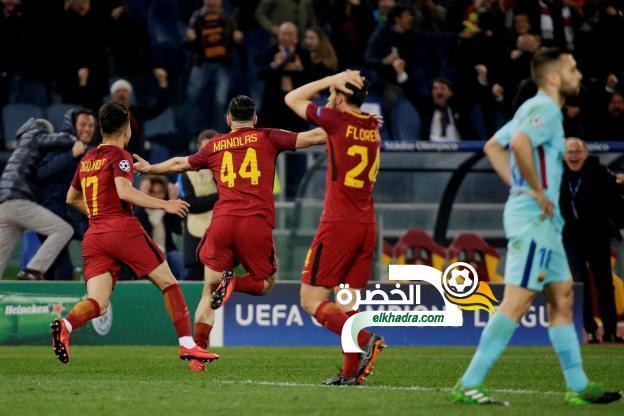 روما يُقصي برشلونة من دوري الأبطال 37