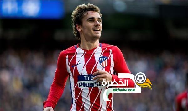 جريزمان يقود قائمة أتلتيكو مدريد في مواجهة برشلونة 24