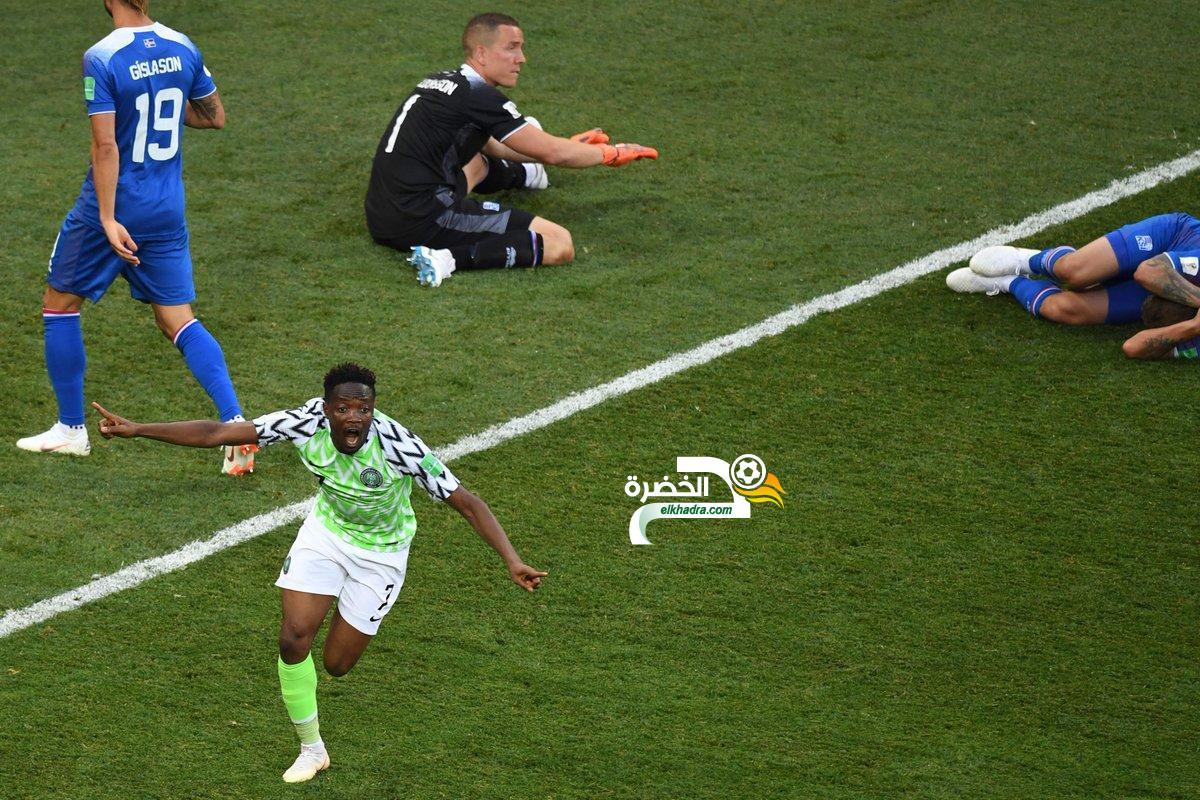 نيجيريا تحقق فوزا ثمينا على ايسلندا بثنائية نظيفة 38