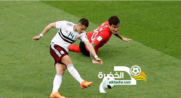 كأس العالم 2018 : المكسيك تتخطى كوريا الجنوبية بثنائية 26