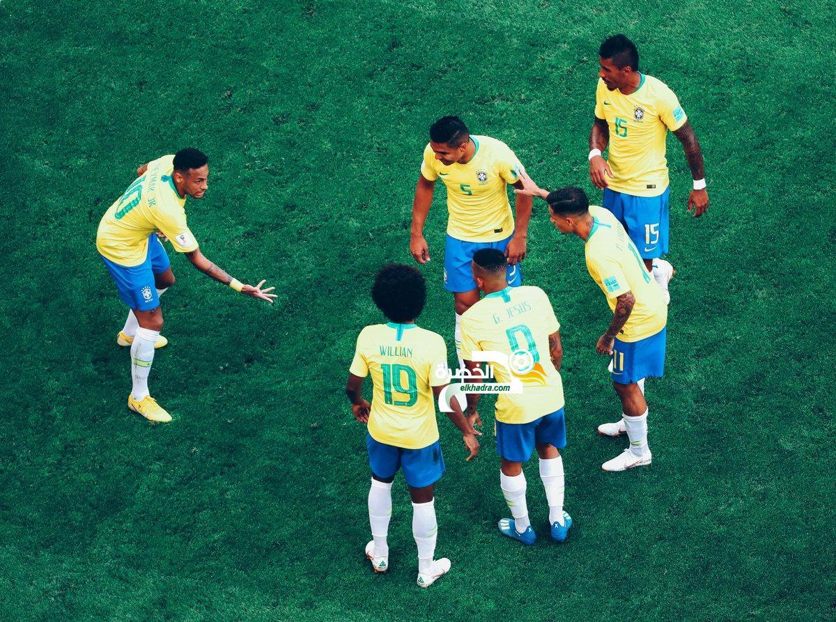 البرازيل إلى ربع نهائي كأس العالم بهدفين على المكسيك 44