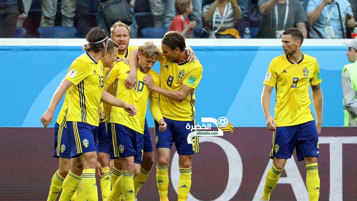 السويد إلى دور الربع النهائي بعد تغلبها على سويسرا بهدف لصفر 40