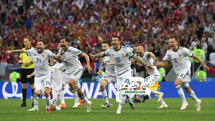 روسيا تقصي إسبانيا وتتأهل لربع نهائي المونديال 49