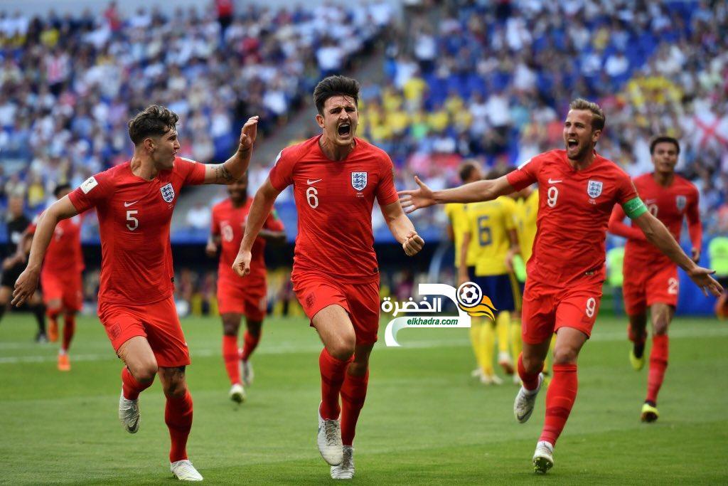 إنجلترا إلى نصف نهائي كأس العالم بالفوز على السويد بثنائية نظيفة 24