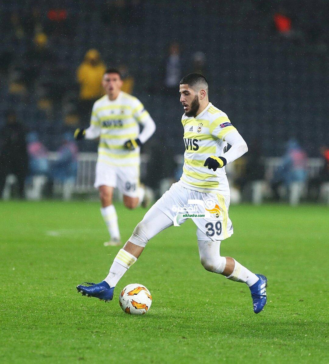 بن زية أساسي ويتأهل مع فنربخشة إلى الدور القادم من الدوري الاوروبي 24