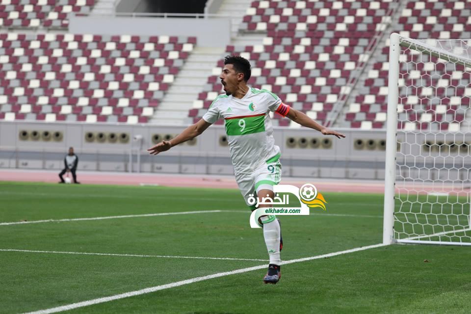 المنتخب الوطني بقيادة بغداد بونجاح يفوز على منتخب قطر 24