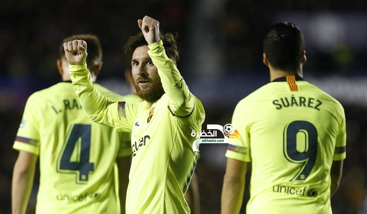 ميسي يقود برشلونة لاكتساح مضيفه ليفانتي 24