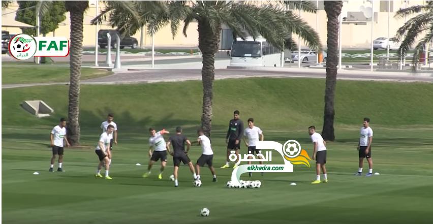 بالفيديو .. المنتخب الوطني يجري أول حصة تدريبية في الدوحة 24