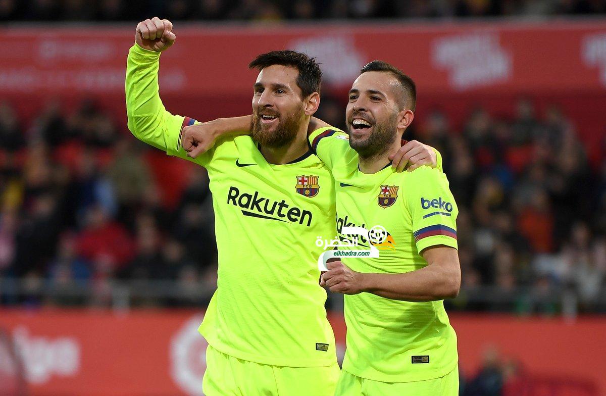 برشلونة يفوز خارج ملعبه على جيرونا في الليجا 24