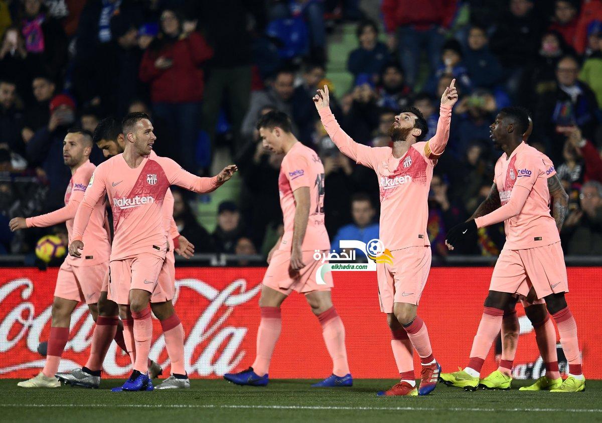 برشلونة يفوز خارج ملعبه على خيتافي بهدفين من ميسي وسواريز 1