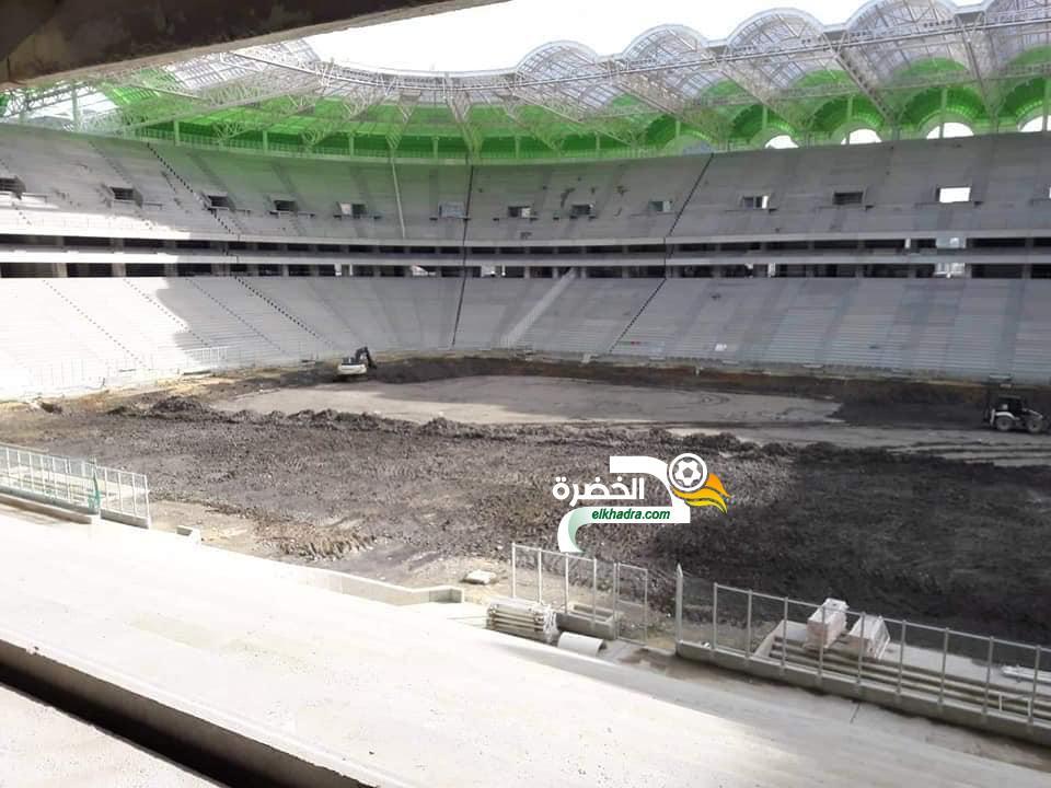 بالصور .. انطلاق أشغال تهيئة أرضية ملعب تيزي وزو الجديد 24