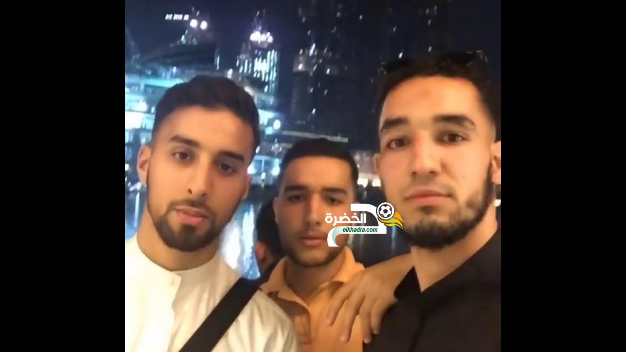الدولي الجزائري نبيل بن طالب في دبي أمام برج خليفة 24
