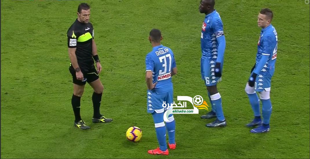 غولام و اوناس بديلين في تعادل نادي نابولي مع مضيفه ميلان 24