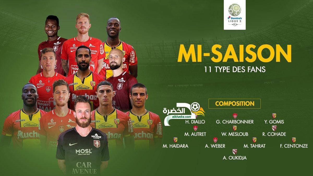 3 لاعبين جزائريين في التشكيلة المثالية لمرحلة الذهاب من الدوري الفرنسي 2 24