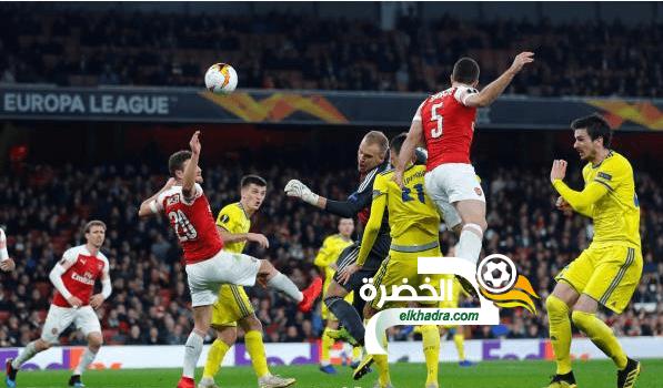 آرسنال يبلغ الدور ثمن النهائي من بطولة الدوري الأوروبي 42