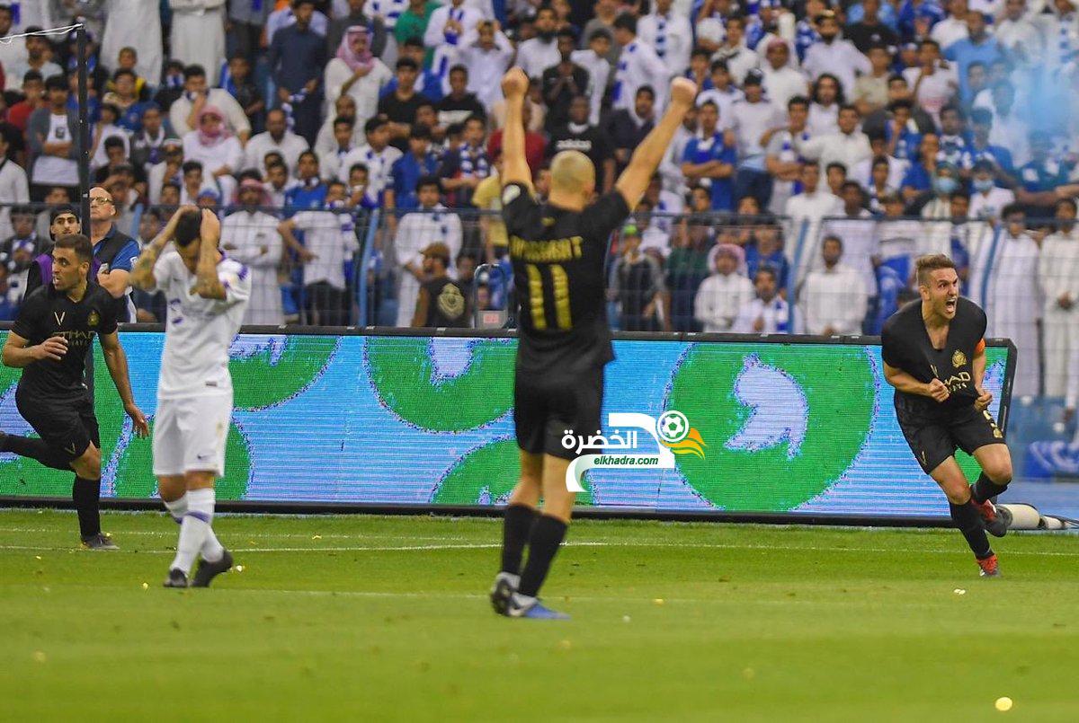 النصر يحسم الديربي امام الهلال في الدوري السعودي 23