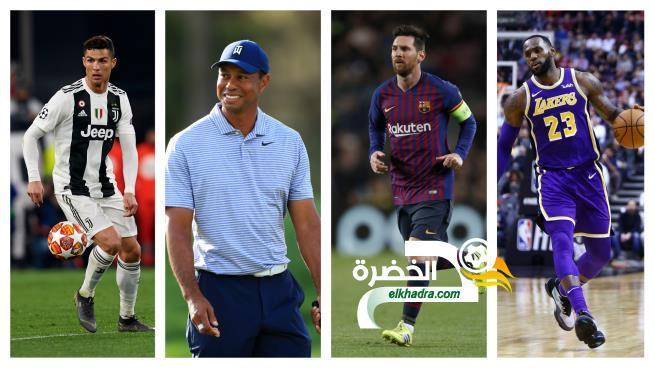 تعرف على قائمة الرياضيين الأكثر شهرة في العالم 24