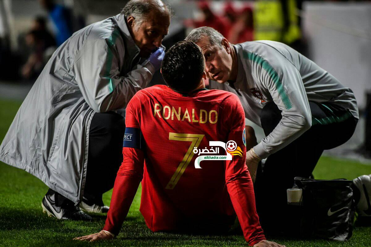 """كالتشيو ميركاتو :""""التقارير الأولية تفيد بغياب رونالدو عن الملاعب لمدة شهر"""" 31"""