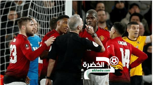 مانشستر يونايتد ينهزم امام وولفرهامبتون ويودع كأس الاتحاد الإنجليزي 24