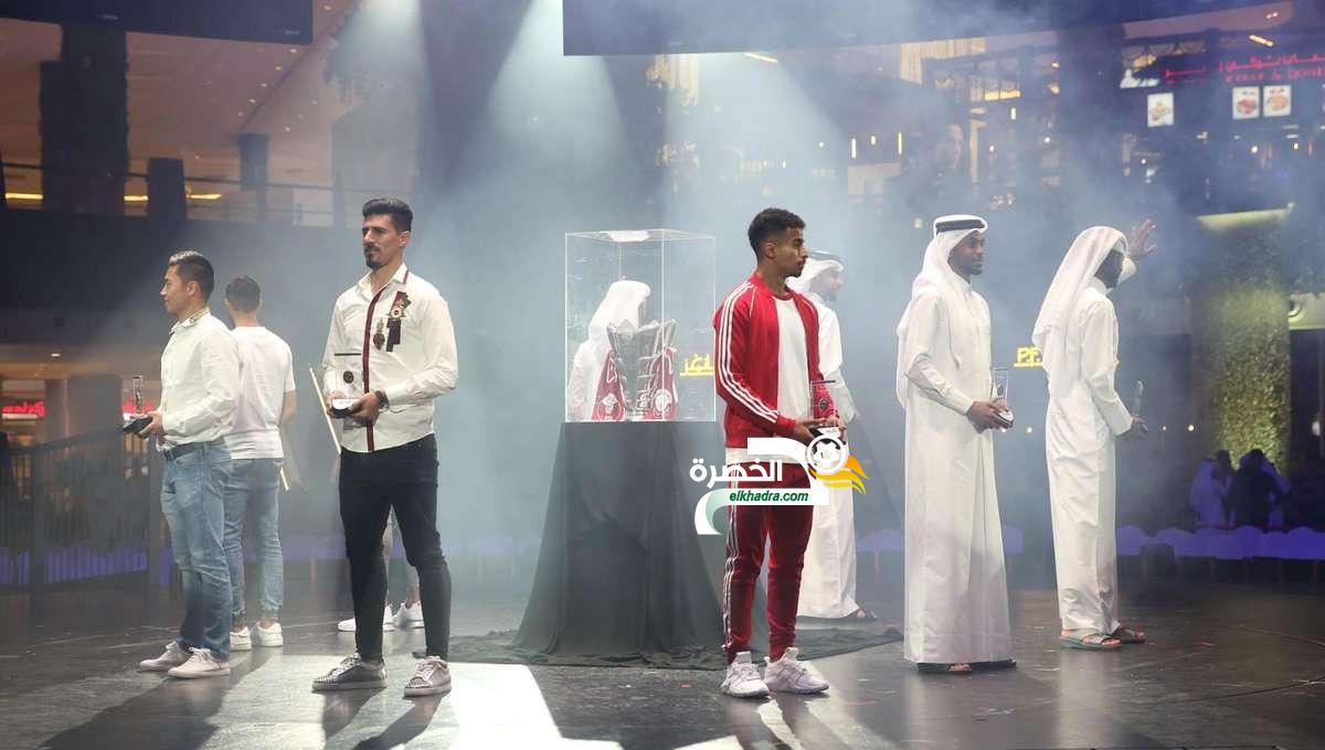 بغداد بونجاح يتوج بجائزة أفضل مهاجم في الدوري القطري 24