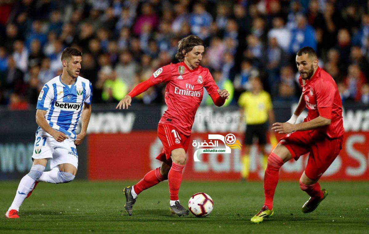 ريال مدريد يكتفي بالتعادل بهدف لمثله في ملعب ليغانيس 24