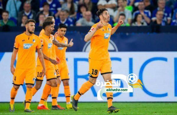 بلفوضيل يسجل هدفين في فوز كبير لهوفنهايم على شالكه بالدوري الالماني 24