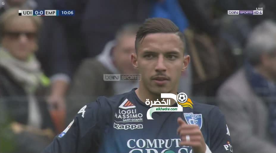 شاهد بعض لمسات اسماعيل بن ناصر اليوم امام اودينيـ ـزي bennacer 24