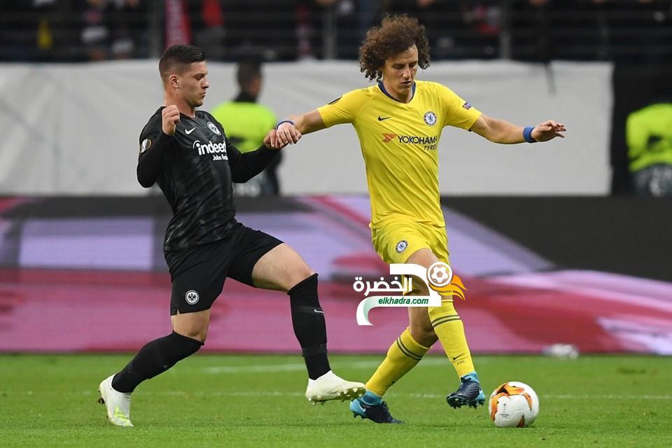 إنتراخت فرانكفورت يتعادل أمام تشيلسي في ذهاب نصف نهائي الدوري الأوروبي 38