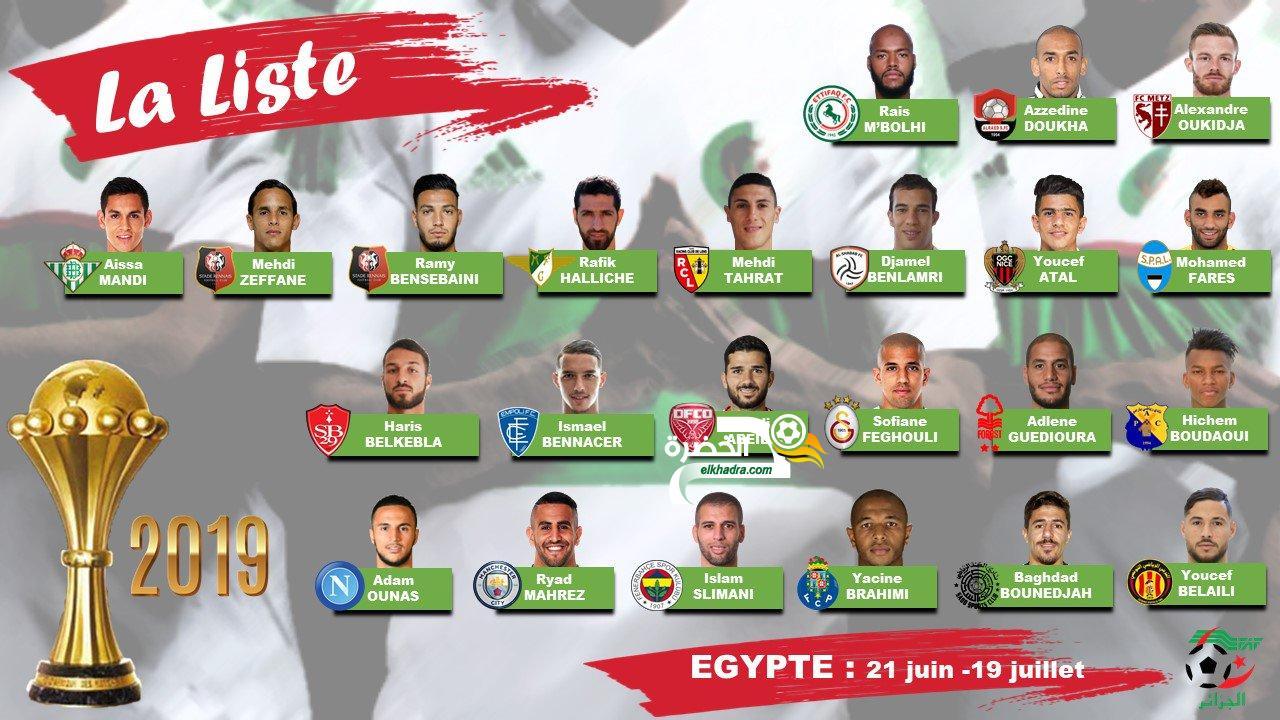 المنتخب الوطني : قائمة 23 لاعب لكأس أمم افريقيا 2019 24