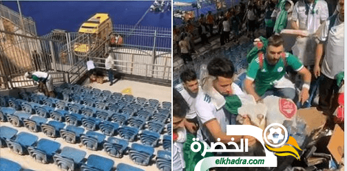 الجماهير الجزائرية تدهش الجميع بحملة تنظيف المدرجات 24