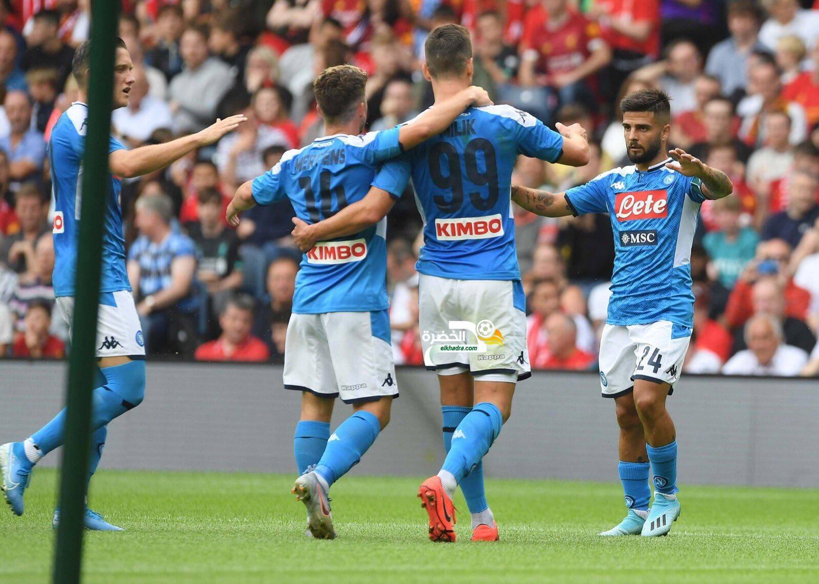 غلام بديل في الفوز الكبير لنابولي أمام ليفربول وديا 24