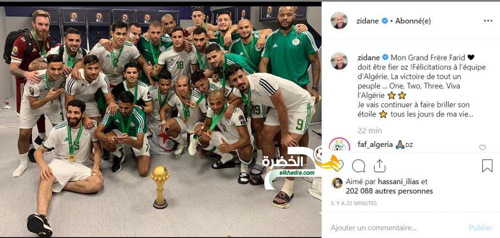 """بالصورة .. زيدان : انتصار الشعب """"1 2 3 تحيا الجزائر"""" ! 18"""